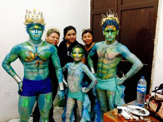 Tritones maquillados por el equipo de Edith Villanueva Cervantes