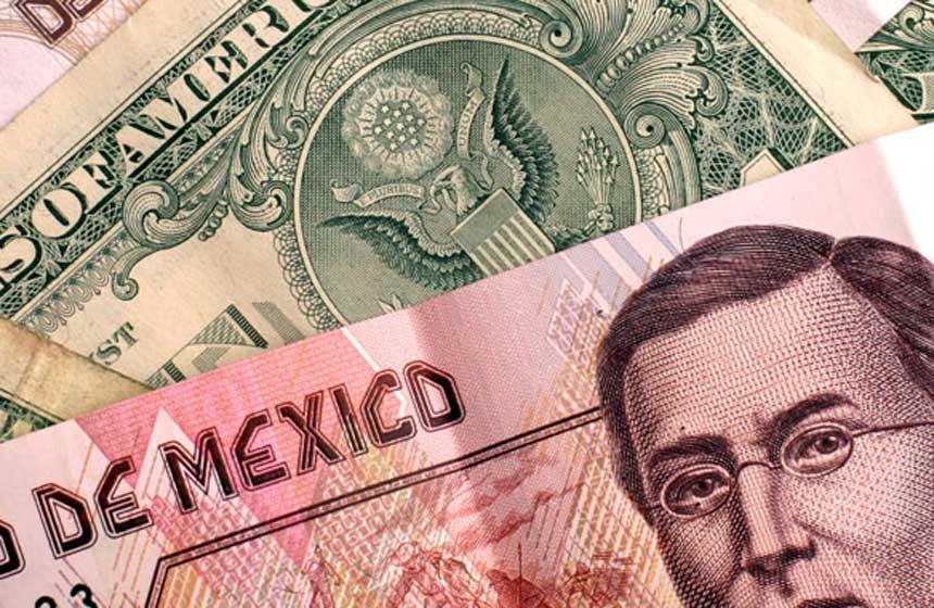 Cambio de Dólar a Peso Mexicano