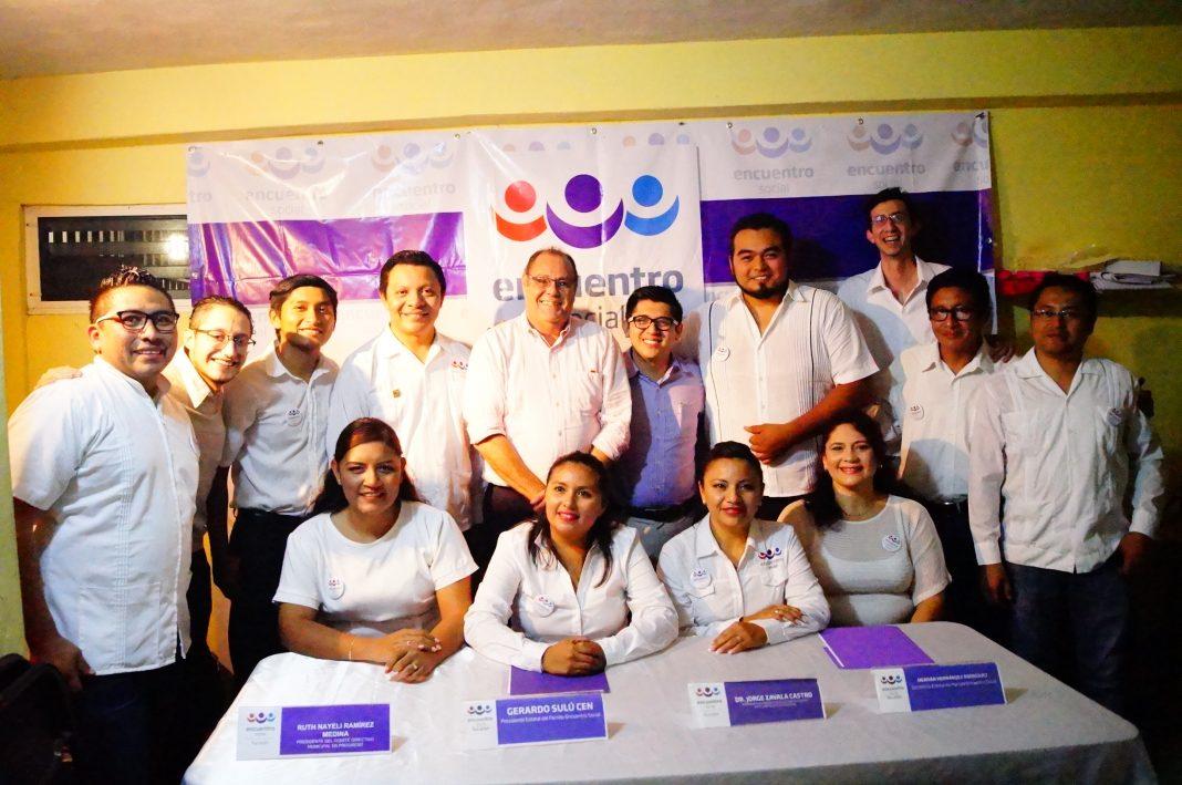 Directivos del Partido Encuentro Social en Progreso